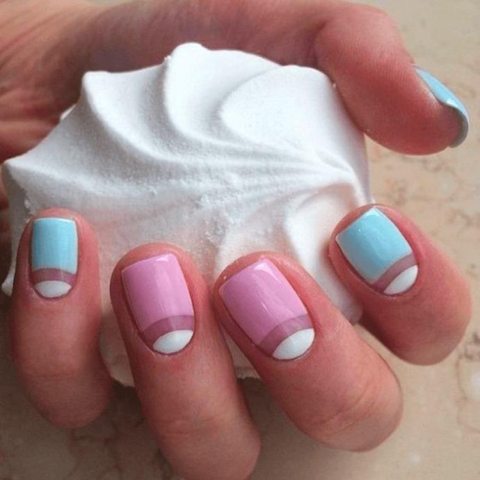 Дизайн ногтей negative space