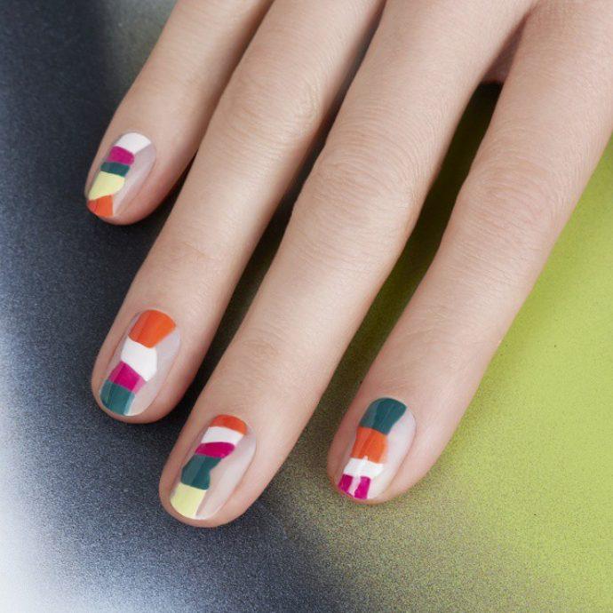 Идея яркого контуринга ногтей