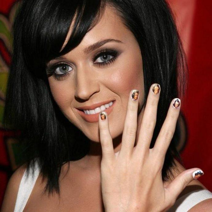 Яркий дизайн ногтей Кэти Перри