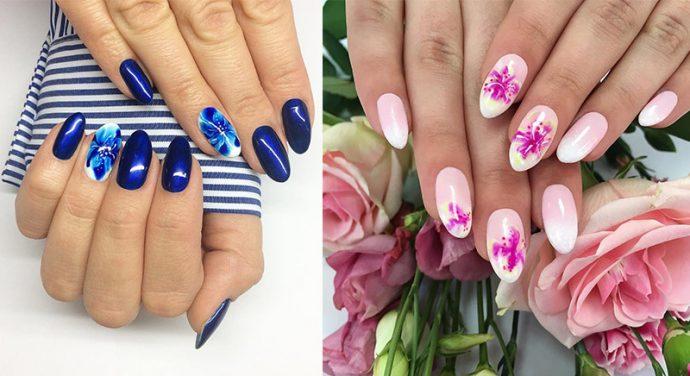 Варианты акварельного дизайна ногтей