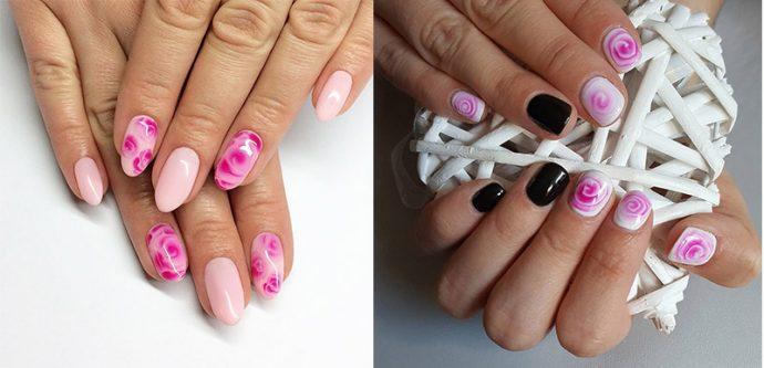Идеи акварельного дизайна ногтей