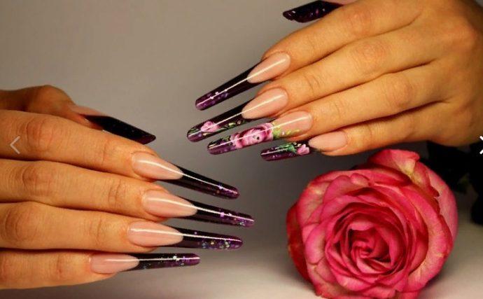 Арочный дизайн ногтей