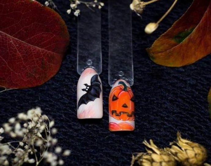 Маникюр на Хэллоуин