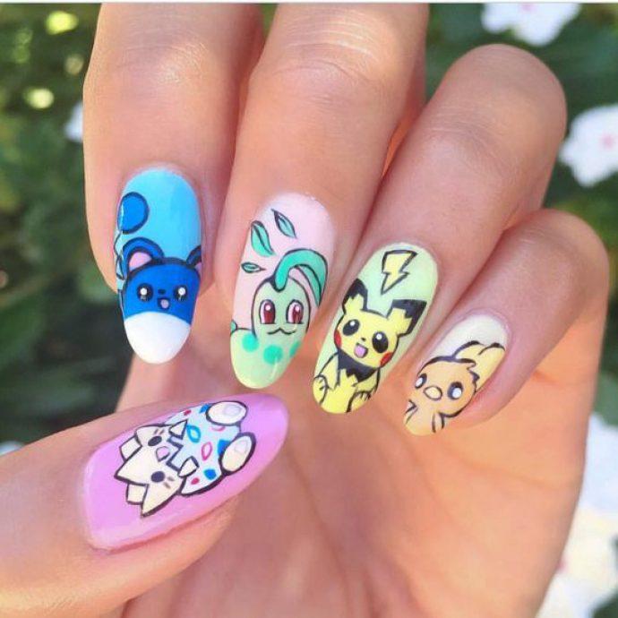 Дизайн ногтей с покемонами
