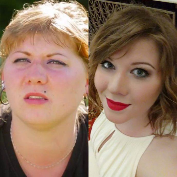 Участница первого сезона шоу Пацанки Мария Болотова до и после