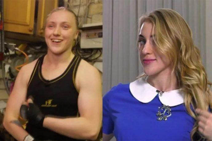 Участница первого сезона шоу Пацанки Юлия Ковалева до и после