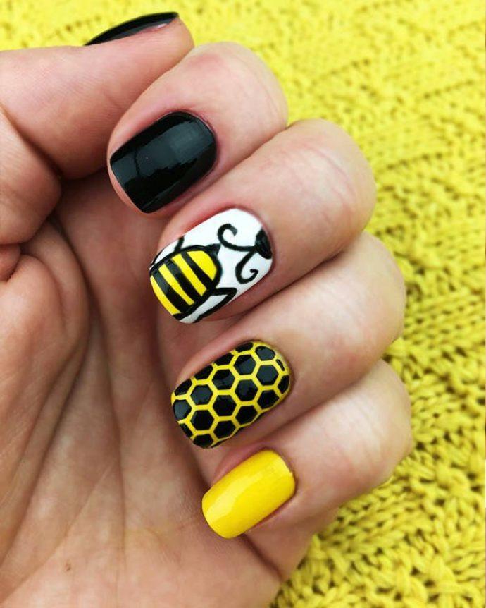 Дизайн ногтей с сотами