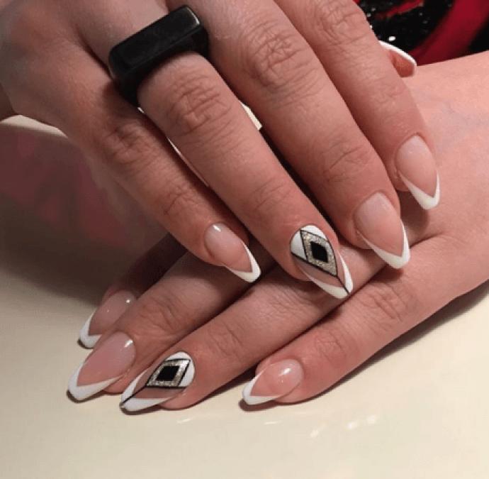 Дизайн ногтей на форму балерина