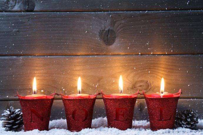 Заженные свечи