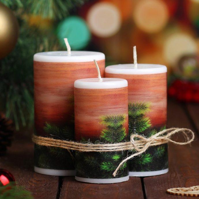 Декоративные свечи в подарок