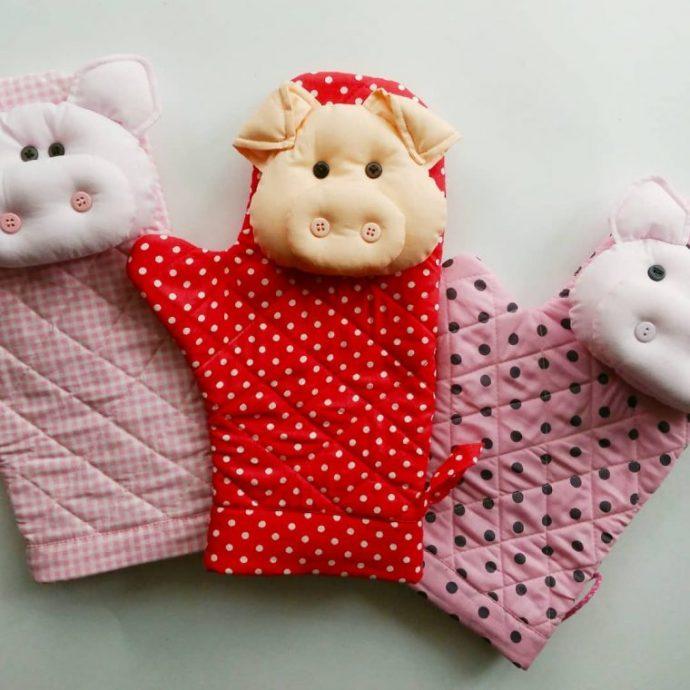 Прихватка-руковица со свинкой