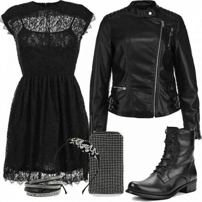 Образ на новый год с черным платьем
