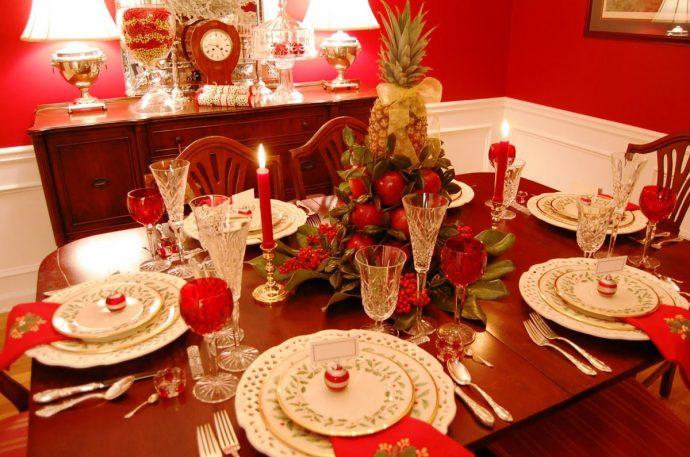 Сервиоровка новогоднего стола