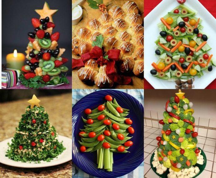 Блюда в виде елки для новогоднего стола