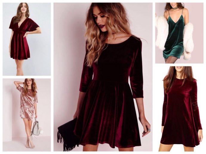 Образы с бархатным платьем