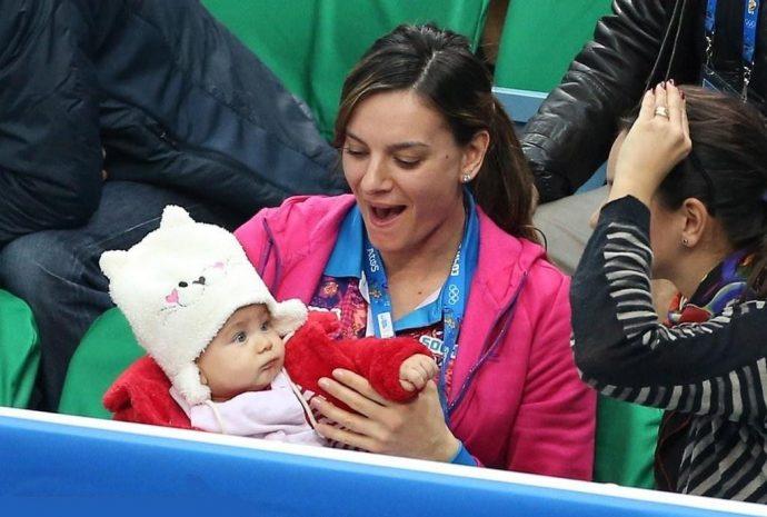 Елена Исинбаева с сыном