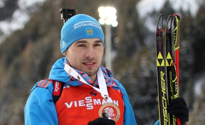 Биатлонист Антон Шипулин