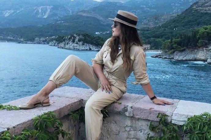 Екатерина Андреева на отдыхе