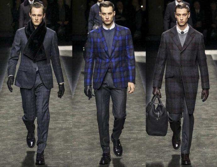 Мужчины-модели в костюмах