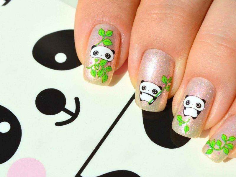 Дизайн ногтей с милыми пандами: 20 вариантов маникюра