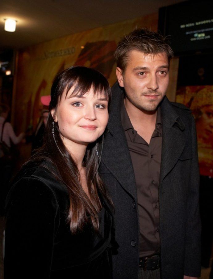 Полина Гагарина с первым мужем Петром Кисловым