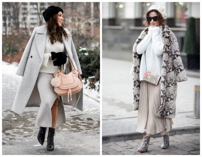 2 образа с длинным пальто