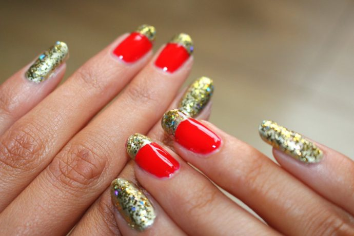 Красно-золотой френч