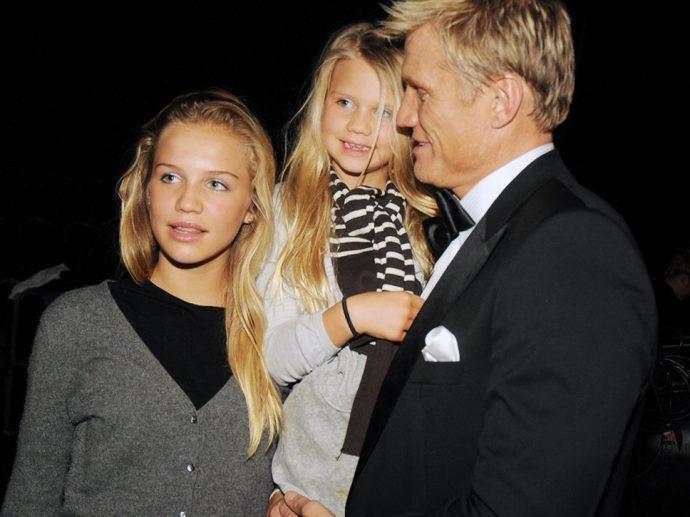 Актёр Дольф Лундгрен с дочерьми