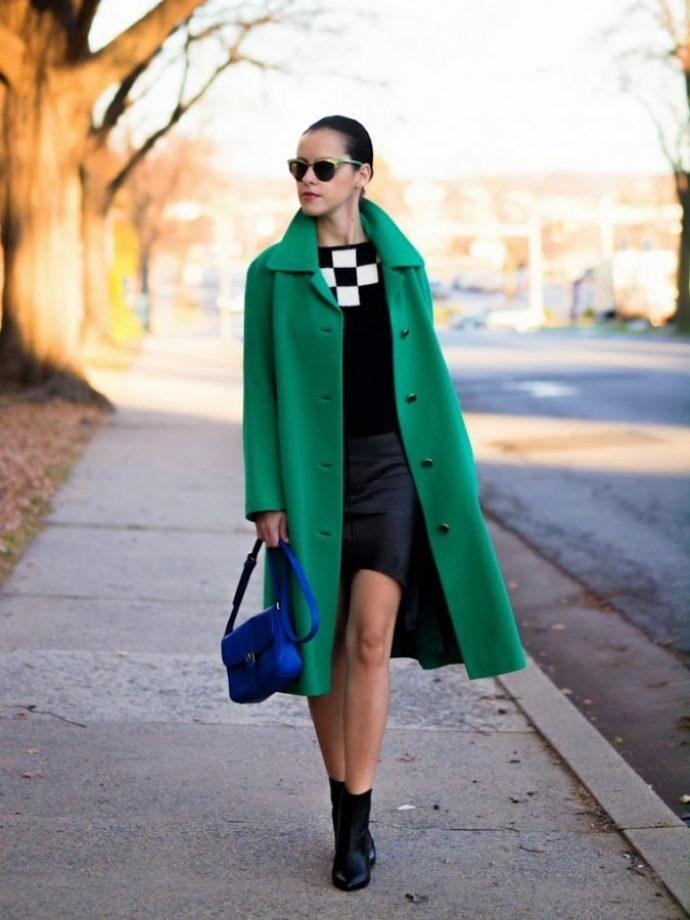 Образ с зеленым пальто