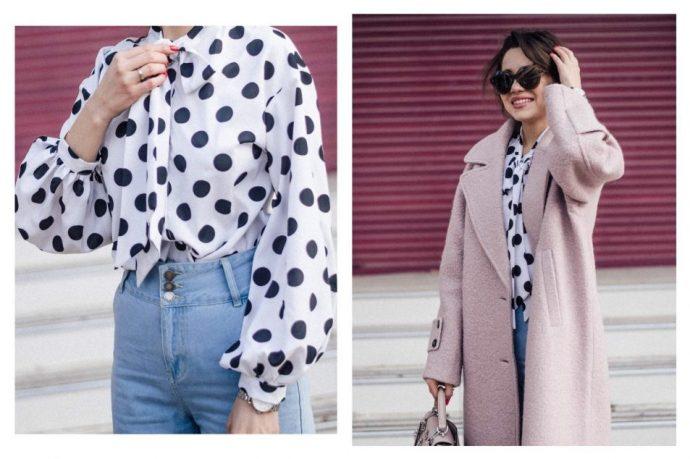 Образ с розовым пальто