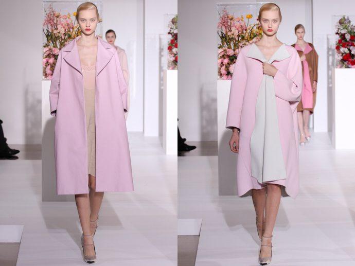 Образы с розовым пальто