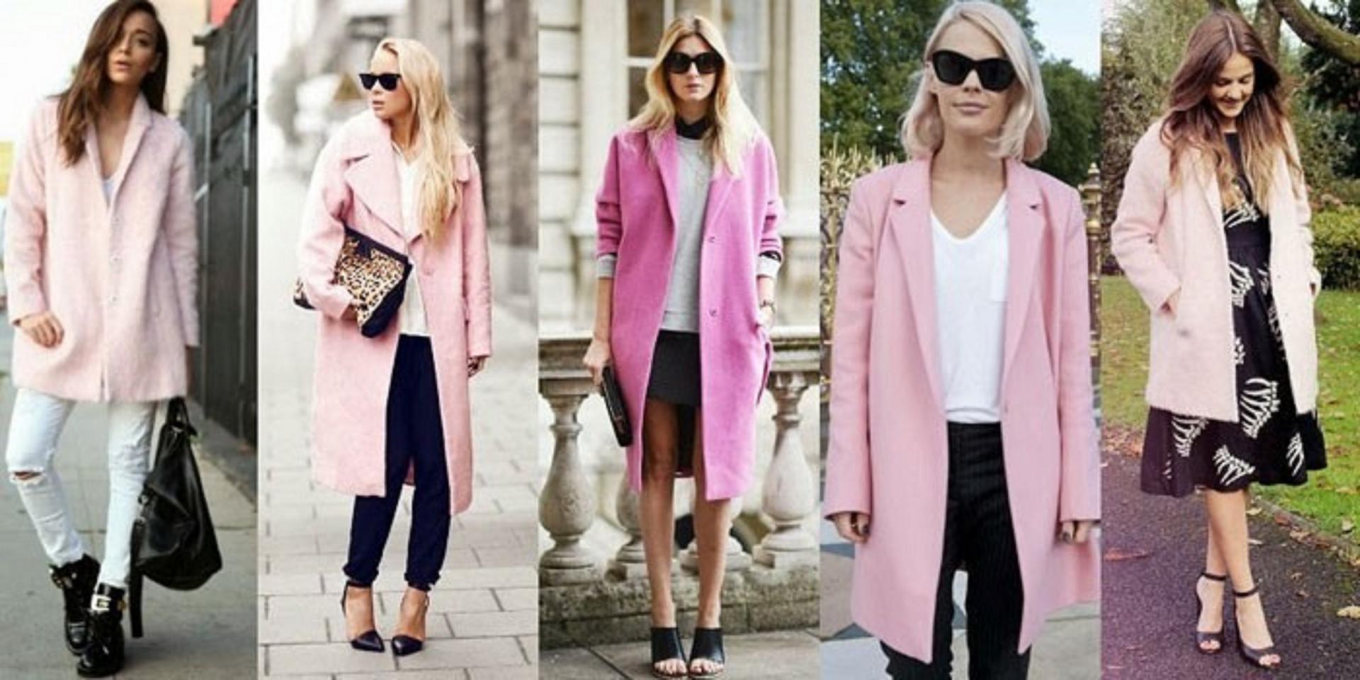 С чем носить розовое пальто: рекомендации и советы, модные образы