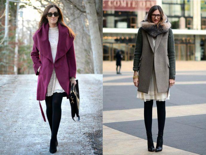Варианты образов с пальто-халатом