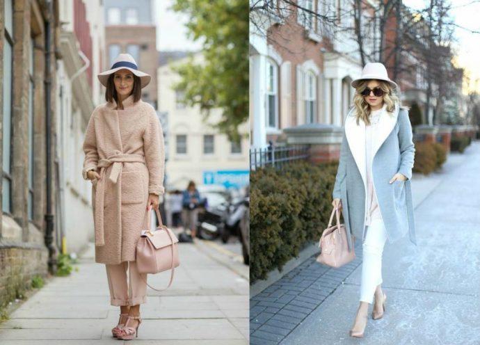 Образы с пальто-халатами