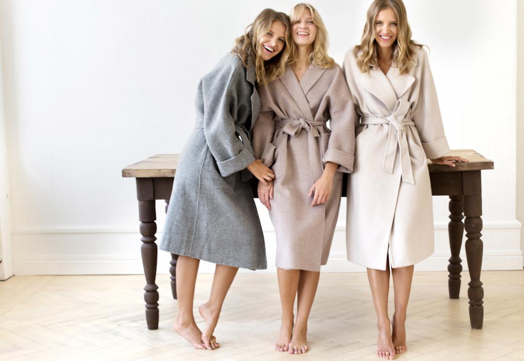 С чем носить пальто-халат: интересные сочетания для модниц