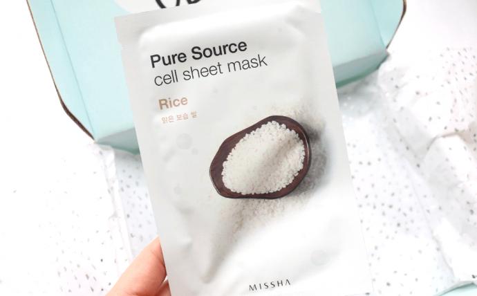 Корейская маска для лица Missha Pure Source Rice