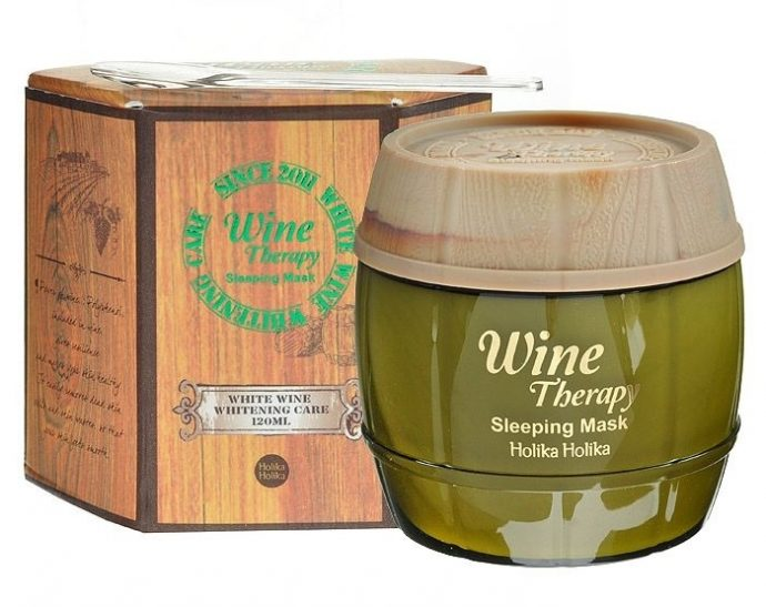 Корейская маска для лица Holika Wine Therapy Sleeping Mask Pack White Wine