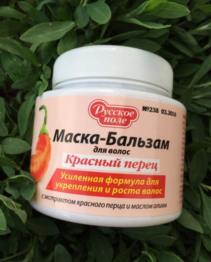 Маска-бальзам для роста волос Русское поле