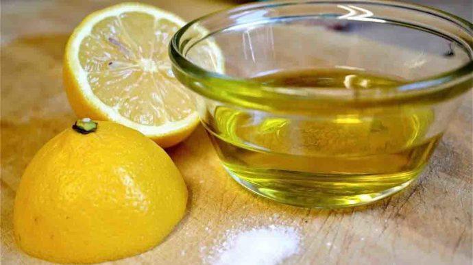 Масло оливы и лимонный сок