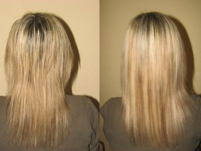 Абрикосовая маска для волос: до и после