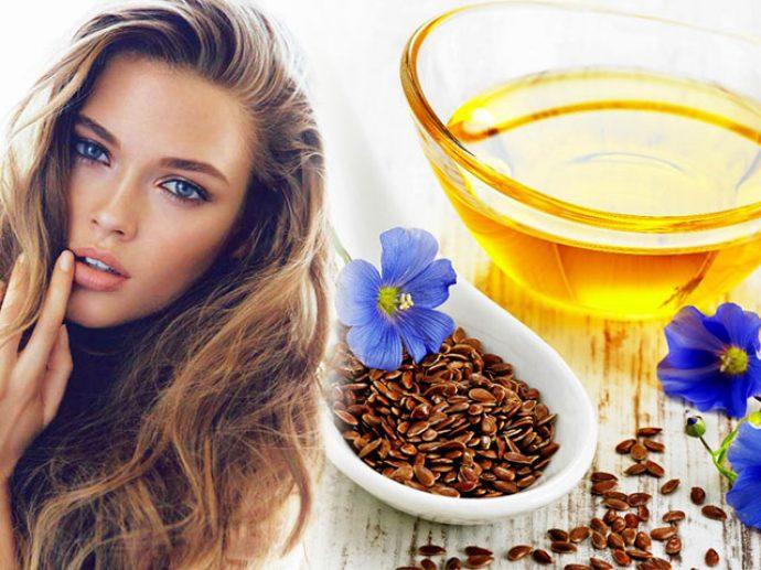 Льняное масло в миске