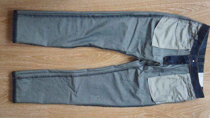 Вывернутые джинсы