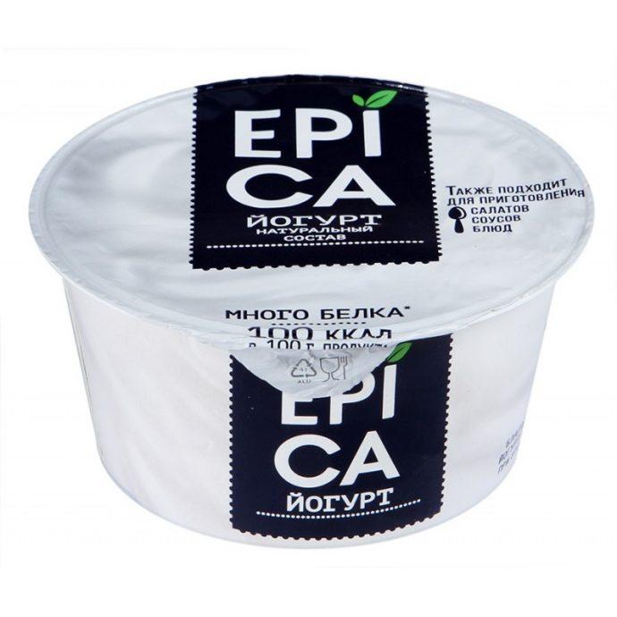 Натуральный йогурт в упаковке