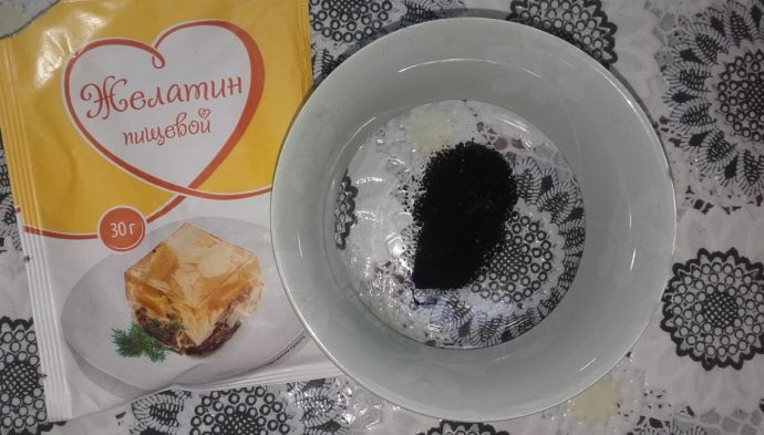 Желатин и активированный уголь