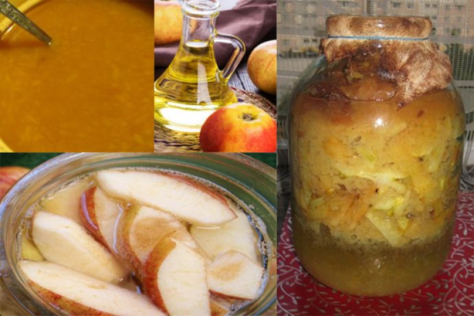 Домашний яблочный уксус и фрукты