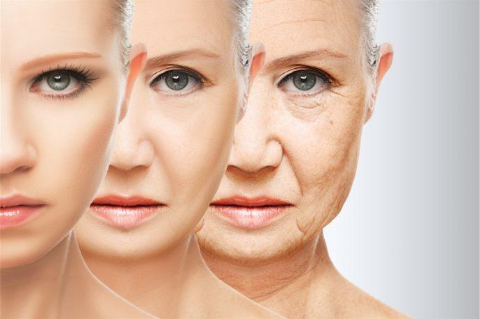 Этапы старения лица женщины