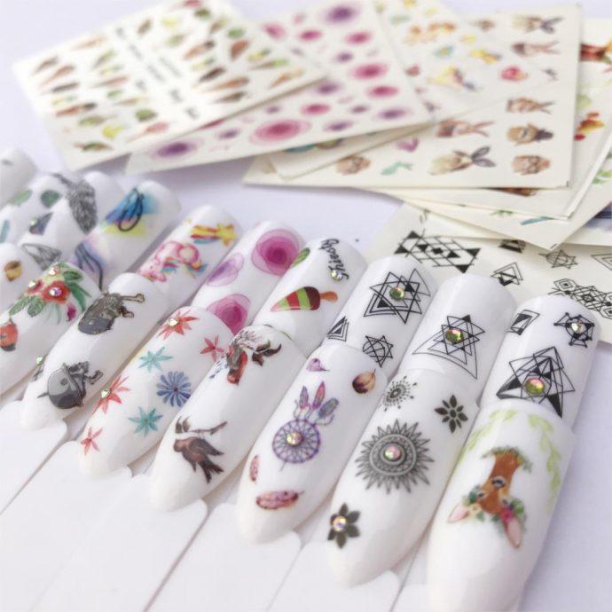 Стикеры и наклейки для ногтей