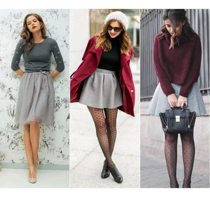 Сочетание колготов с одеждой и обувью