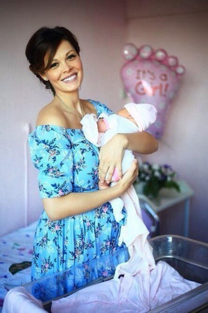 Мария Горбань с дочерью