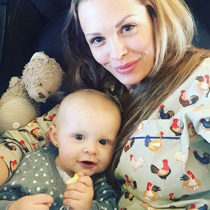 Фото Марии Горбань с дочерью